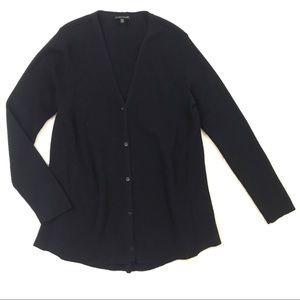 Eileen Fisher small navy blue cardigan